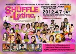 4/7祝!SHUFFLE LATINO Anniversary!!!! 2012@六本木Sutido Raiz Latina